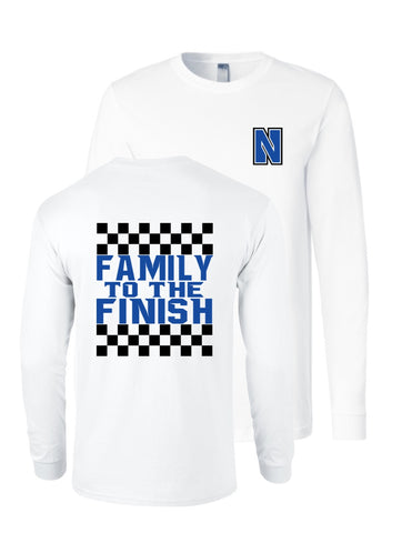 Family to the Finish Long Sleeve Tee