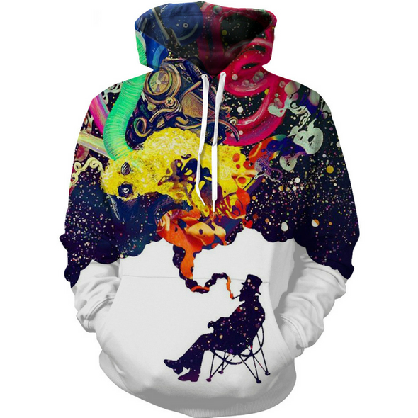 Smoke Colors Unisex Hoodie front