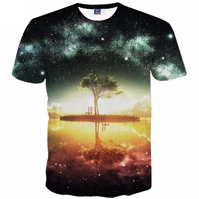 Galaxy Tree T-Shirt front