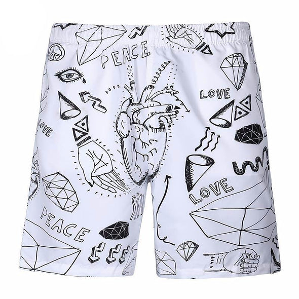 Graffiti Shorts front