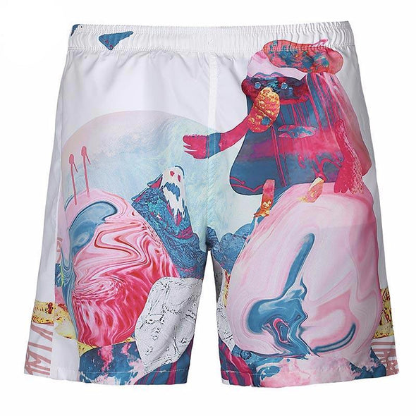 Watercolor Shorts front