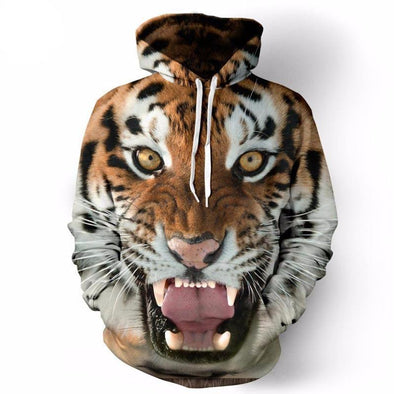 Tiger Unisex Hoodie front