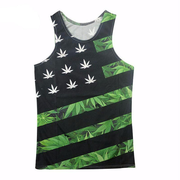 USA Green Unisex Tank Top front