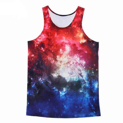 Galaxy Contrast Unisex Tank Top front