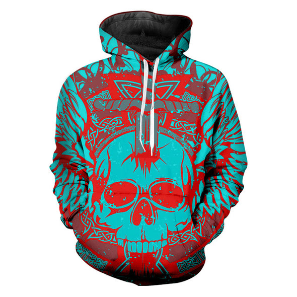Turquoise Red Rocky Unisex Hoodie