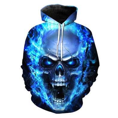 BLUE FIRE SKULL HEAD - PsyThreads