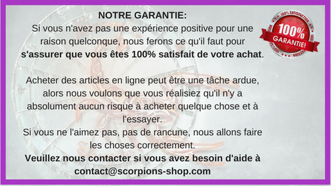 avis clients scorpions shop