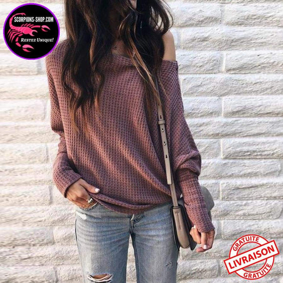 Pull femmes sexy Casual manches longues-pull-scorpions-shop