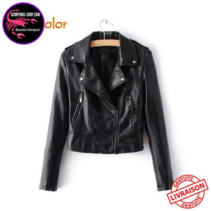 Veste Cuir simili Femmes Fashion-Veste-scorpions-shop