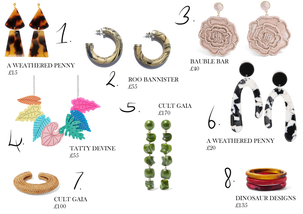 Alternative material jewellery