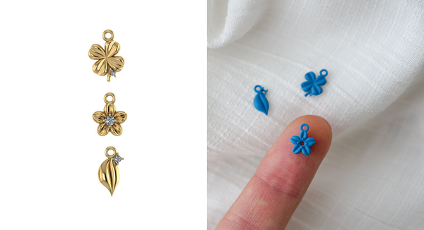 hutchlondon hutch London jewellery itsy bitsy collection tiny charms 3d printed jewellery