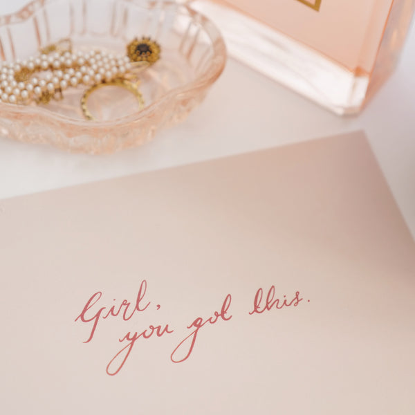'You're My Girl' Notecard Edit
