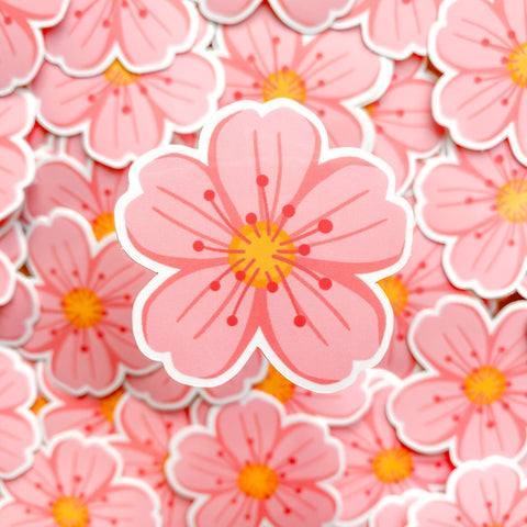 Flower Emoji Vinyl Sticker
