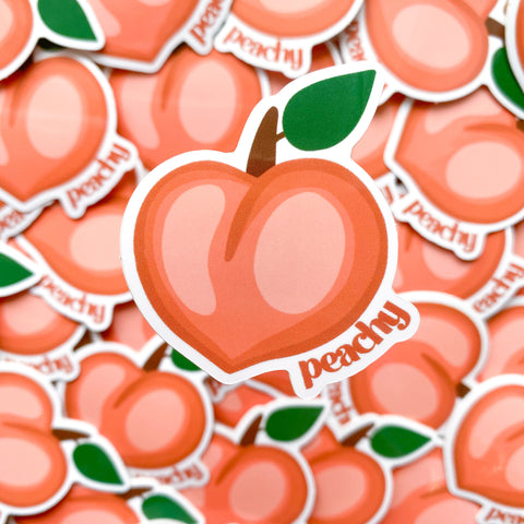 Peachy Peach Vinyl Sticker