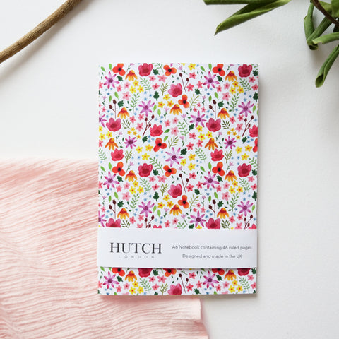 A6 Multi Floral Pocket Notebook