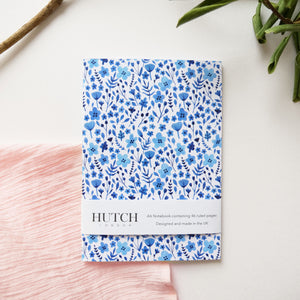 A6 Blue Dainty Floral Pocket Notebook