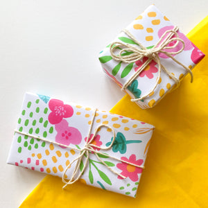 Bright Summer Floral Wrapping Paper