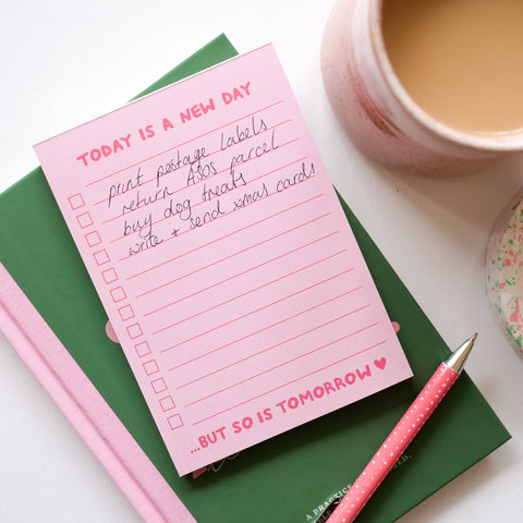 A6 New Day Checklist Desk Pad