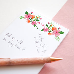 A6 Floral Notes Desk Pad