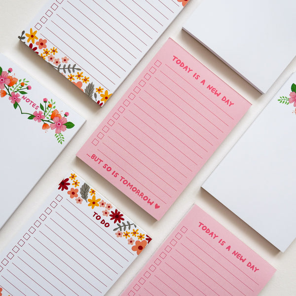 A6 To Do Floral Checklist Desk Pad