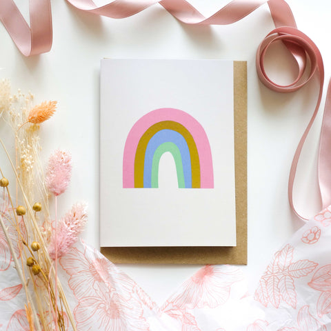 Rainbow Gold Foil Greetings Card
