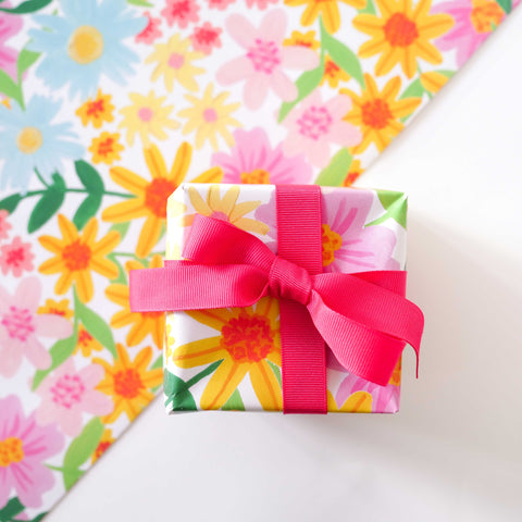 Spring Medley Floral Print Wrapping Paper