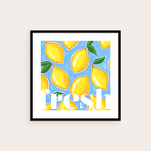 Fresh Lemon Illustrated Print