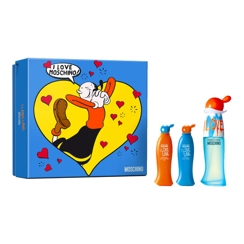 Moschino Cheap And Chic I Love Love Eau De Toilette Spray 30ml Set 3 Pieces 2017