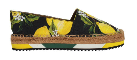 Lemon Brocade Espadrilles Loafers