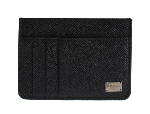 Black Leather Credit Card Holder Case Cover Wallet