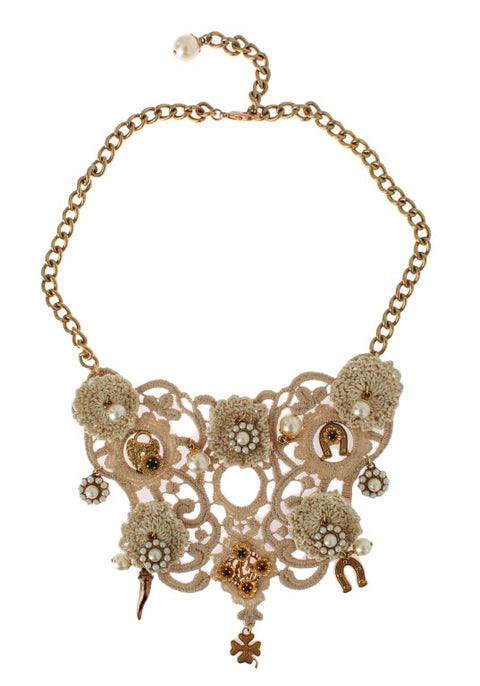 Gold Brass Floral Sicily CEREMONIA Necklace