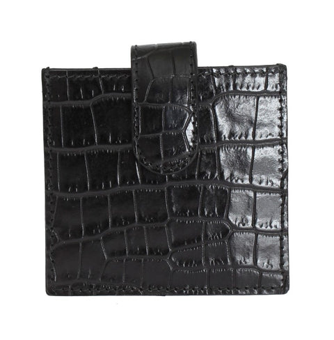 Black Leather Condom Case Holder