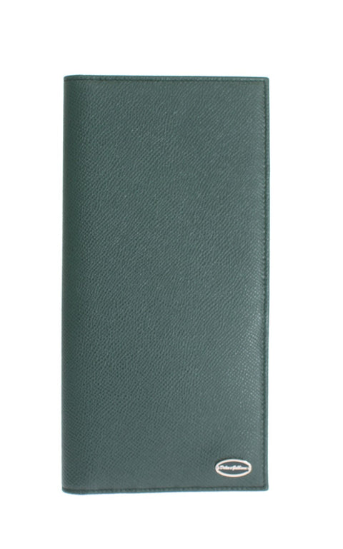 Green Dauphine Leather Bifold Document Holder