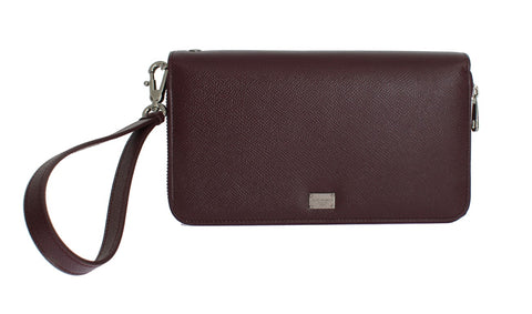 Bordeaux Dauphine Leather Portfolio Bag