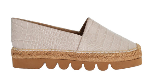 Pink Leather Espadrilles Shoes