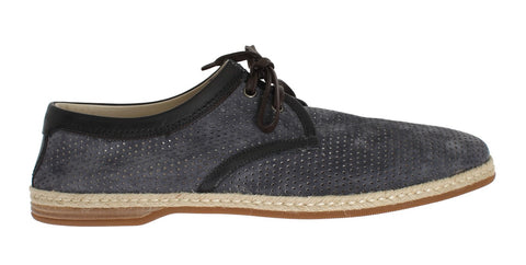 Blue Gray Suede Leather Shoes