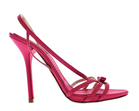 Pink Silk Blend Sandals High Heel Shoes