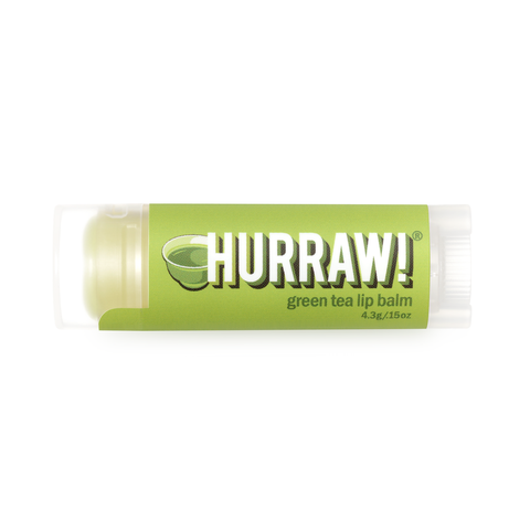 hurraw læbepomade - green tea - grøn the - vegansk