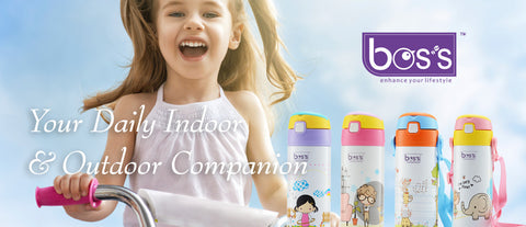 BOS'S Stainless Steel Vacuum Thermal Flask for Kids