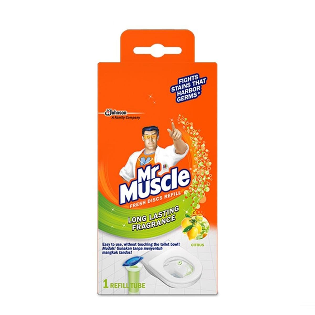 695275 Mr Muscle Refill Citrus 6s 38g