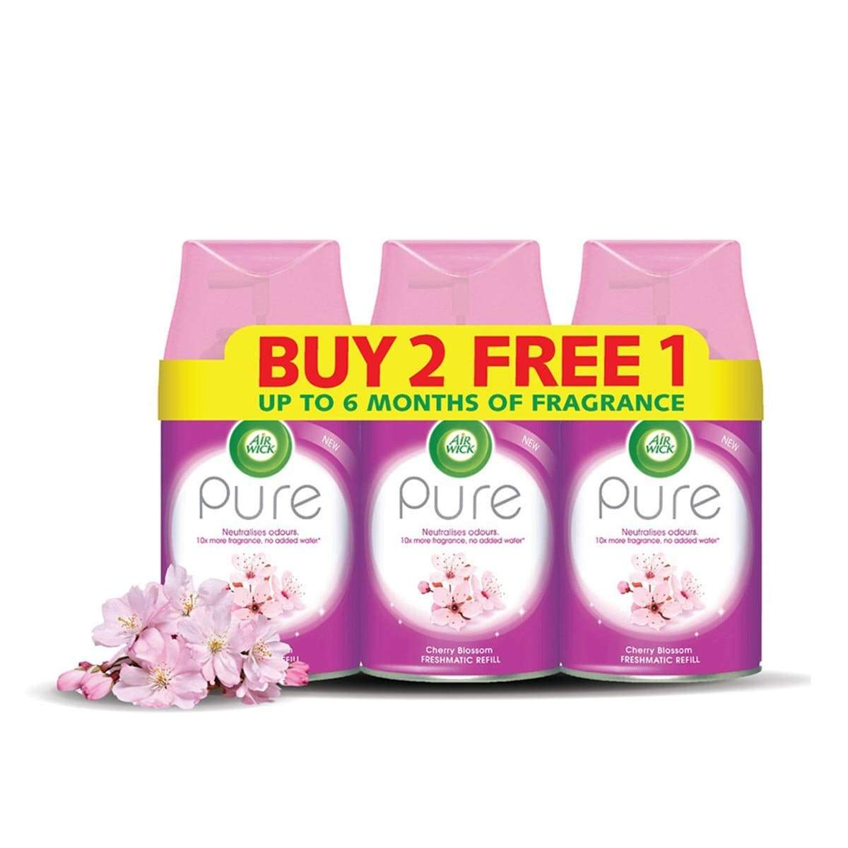 Air Wick Pure Freshmatic Refill (250ml) [Value Pack]-Cherry Blossom