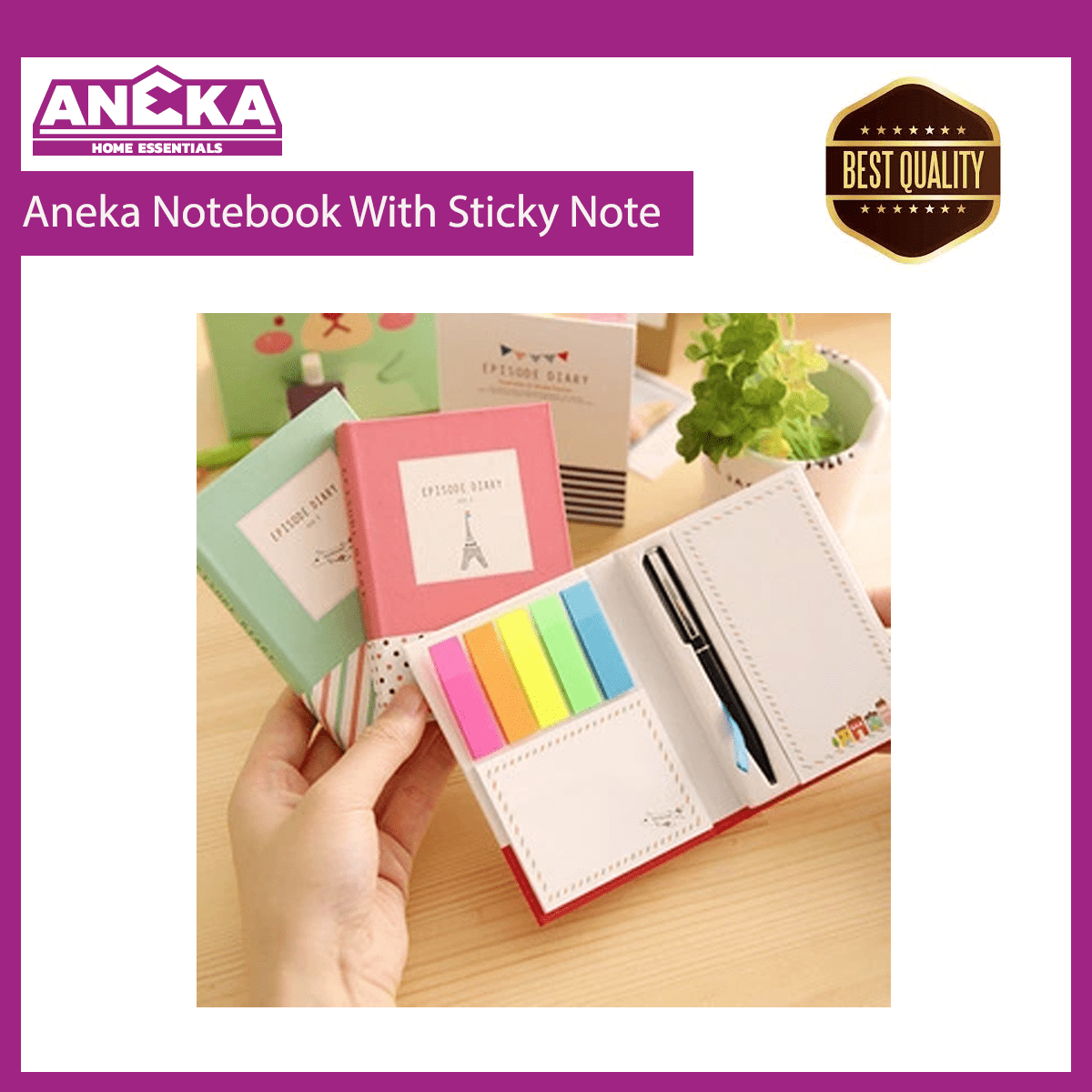 Aneka Notebook with Sticky Note