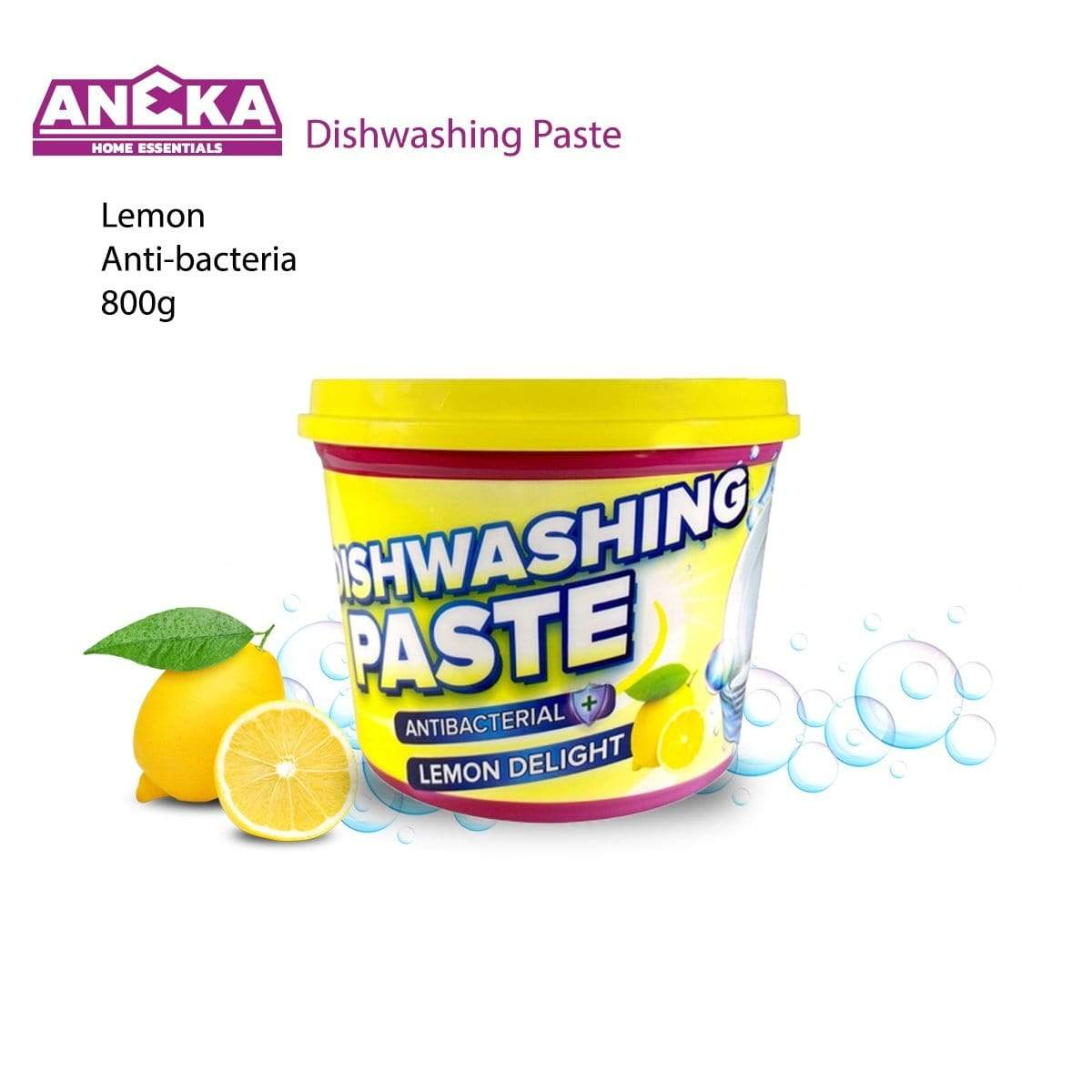 Antibacterial Dishwashing Paste 800g Lemon