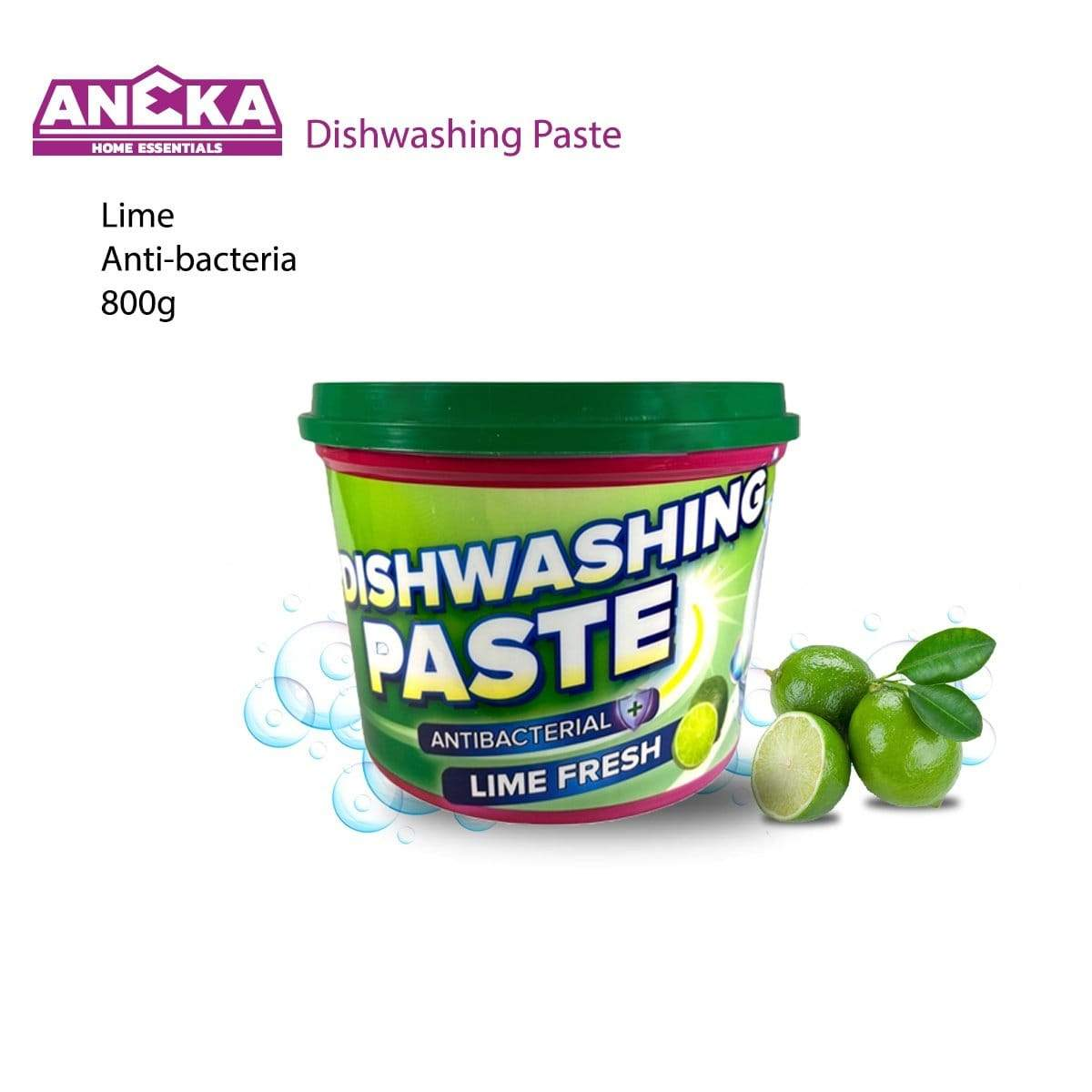 Antibacterial Home Dishwashing Paste 800g Lime