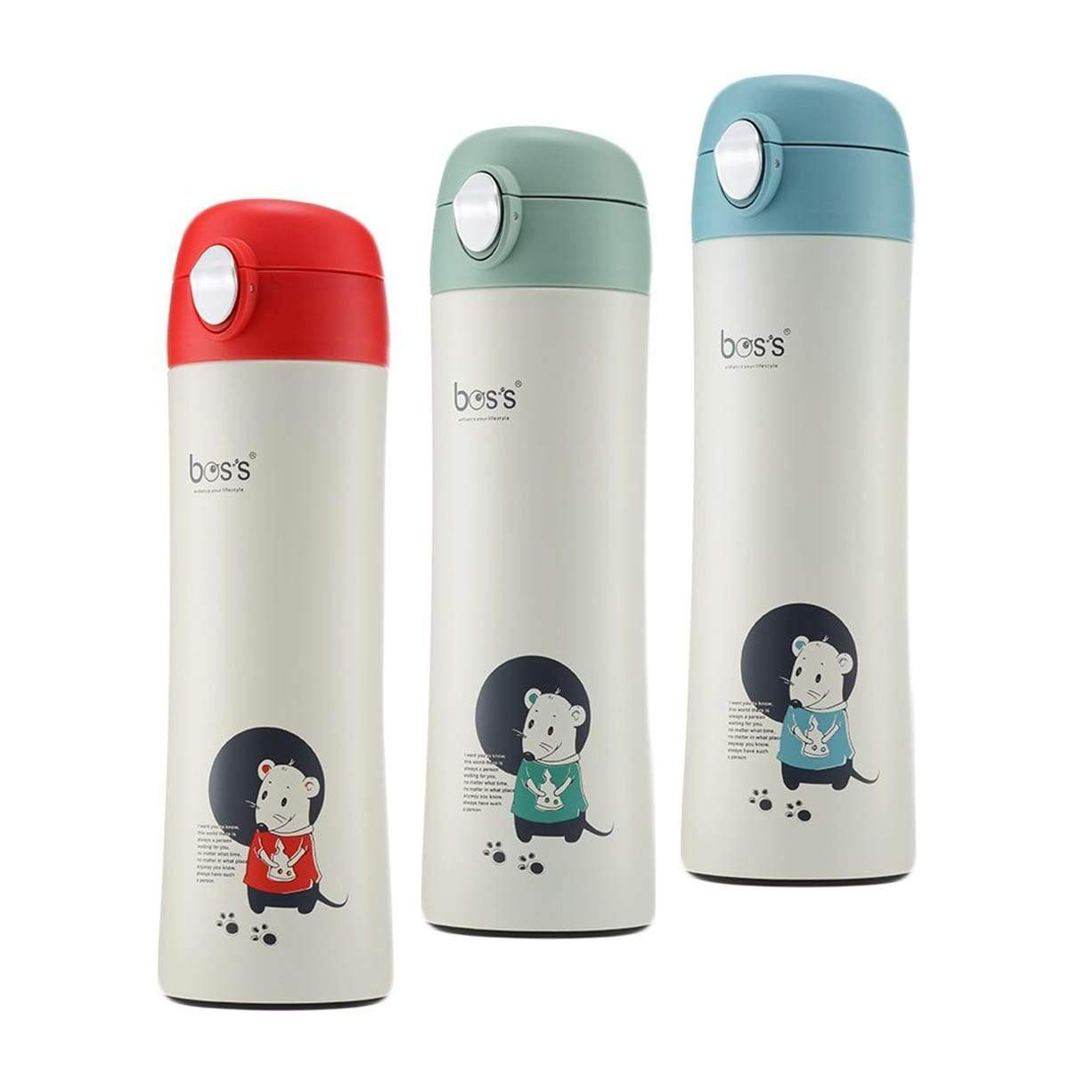 """BOS'S"" 500ml Chilly Looey S/S Vacuum Bottle (BLT050J16)"