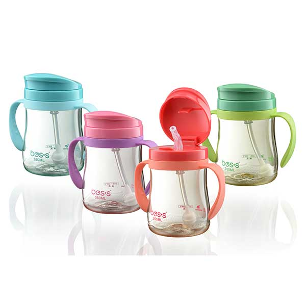 BOS'S Kids Water Drinking Bottle with Straw 350ml BB035TP