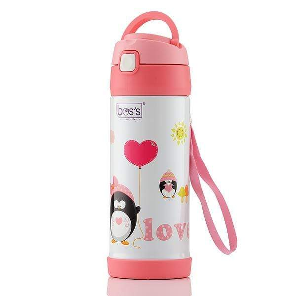 BOS'S Stainless Steel Happy Day Vacuum Bottle 350ml BK035A14