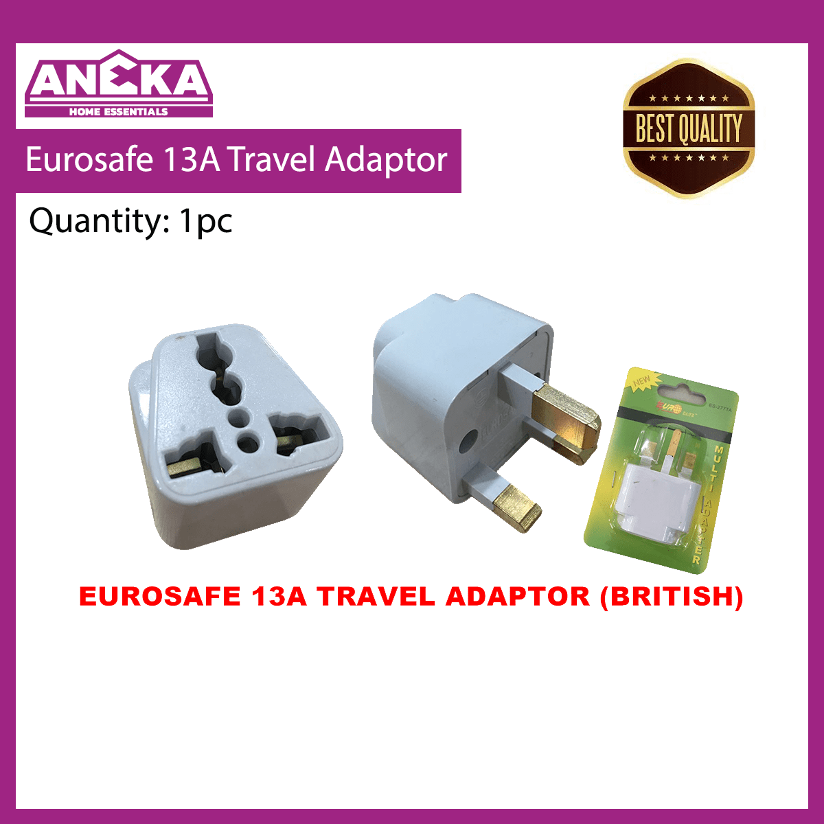 EUROSAFE 13A (ES-227TA)Travel Adaptor