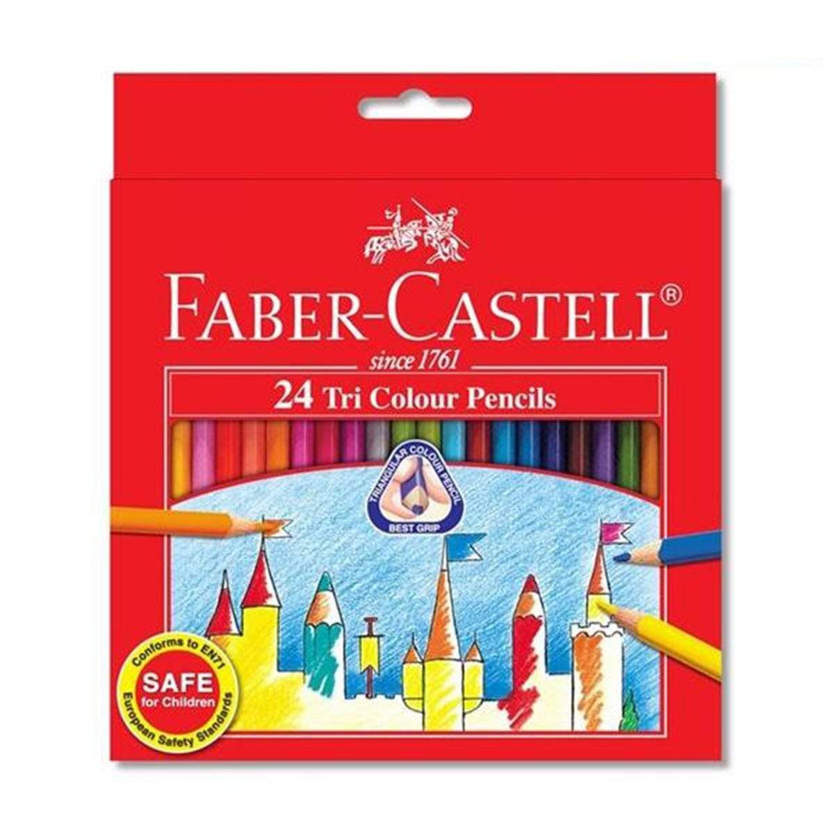 Faber Tri-Colour Pencil 24L - 115834
