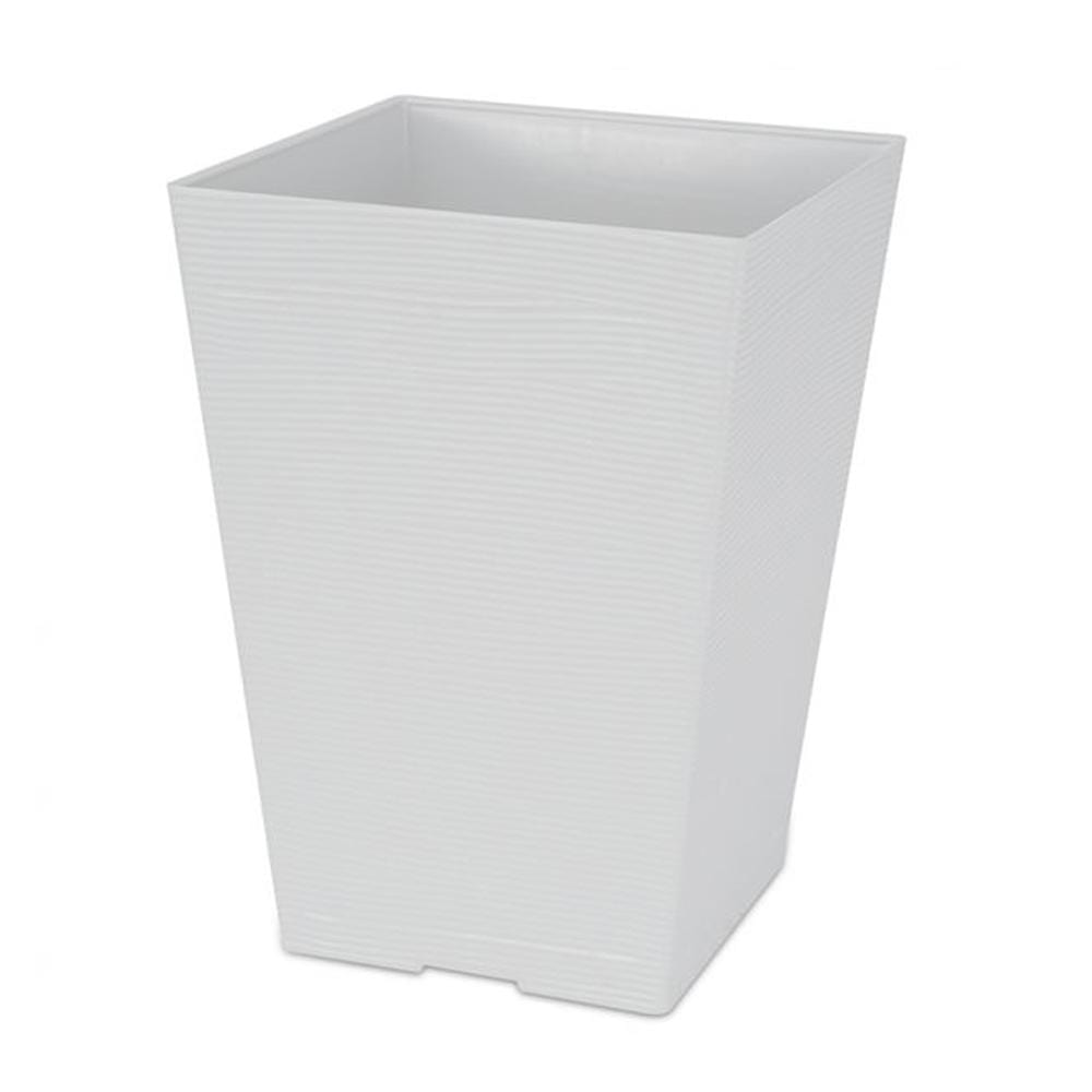 Felton Square Flower Pot White FBL2454